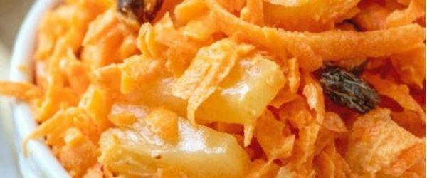 سالاد هویج و کشمش